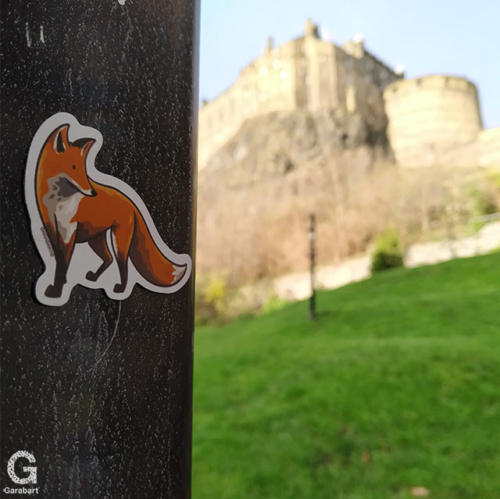 Red Fox Magnet in the Castle