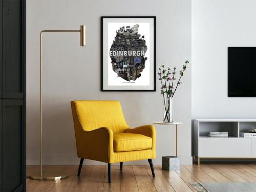 Heart of Edinburgh Print